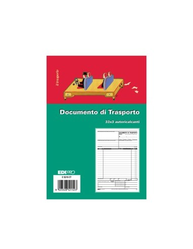 DOCUMENTO DI TRASPORTO 3 COPIE A/5 COD. 1220.1N-S3071 da 3,66 € - R...
